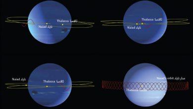 صورة رقصة قمري كوكب نبتون المذهلة