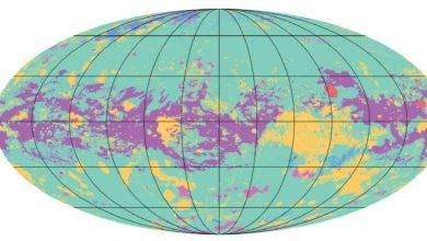 صورة خريطة تكشف تضاريس القمر تايتان
