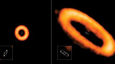 صورة كواكب النجوم المزدوجة البعيدة غير مستقرة في مداراتها