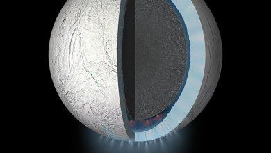 Photo of البنية المعقدة لنواة القمر الجليدي إنسيلادس