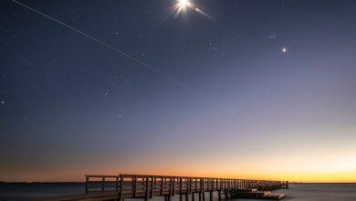 صورة مرور محطة الفضاء الدولية