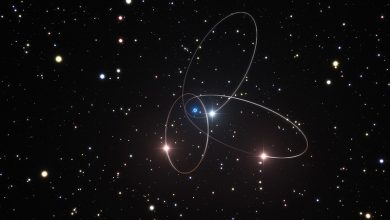 صورة توهج انبعاث لأشعة غاما يرى عبر الكون